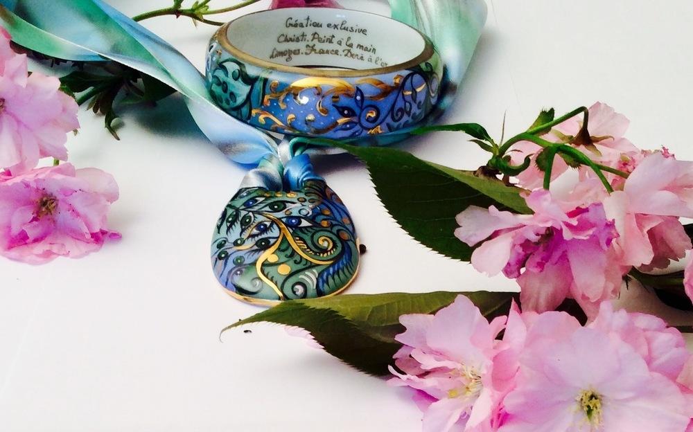 Collier & bracelet. Jardin magique