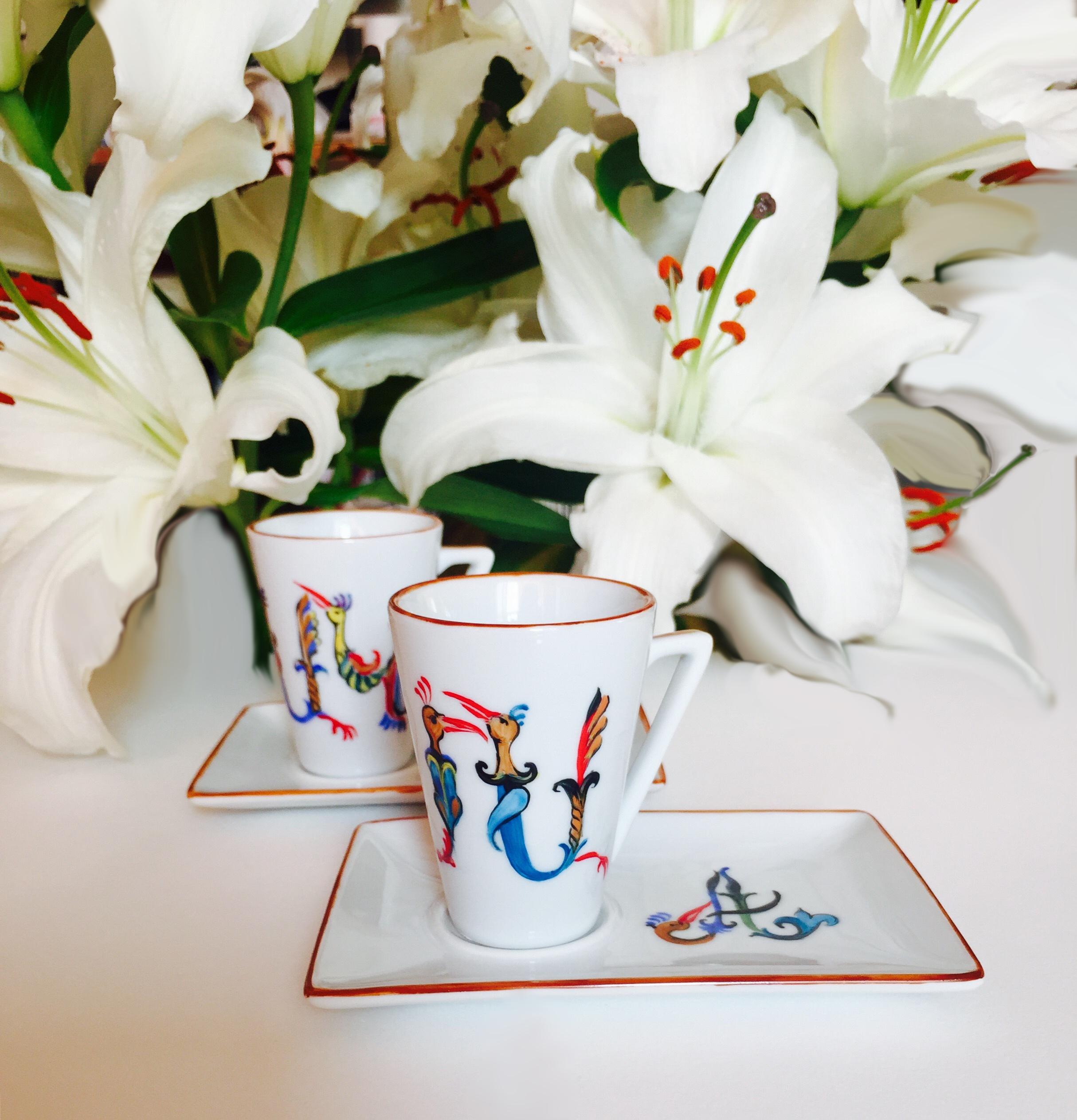 Tasses à café «Moka-Initiales»