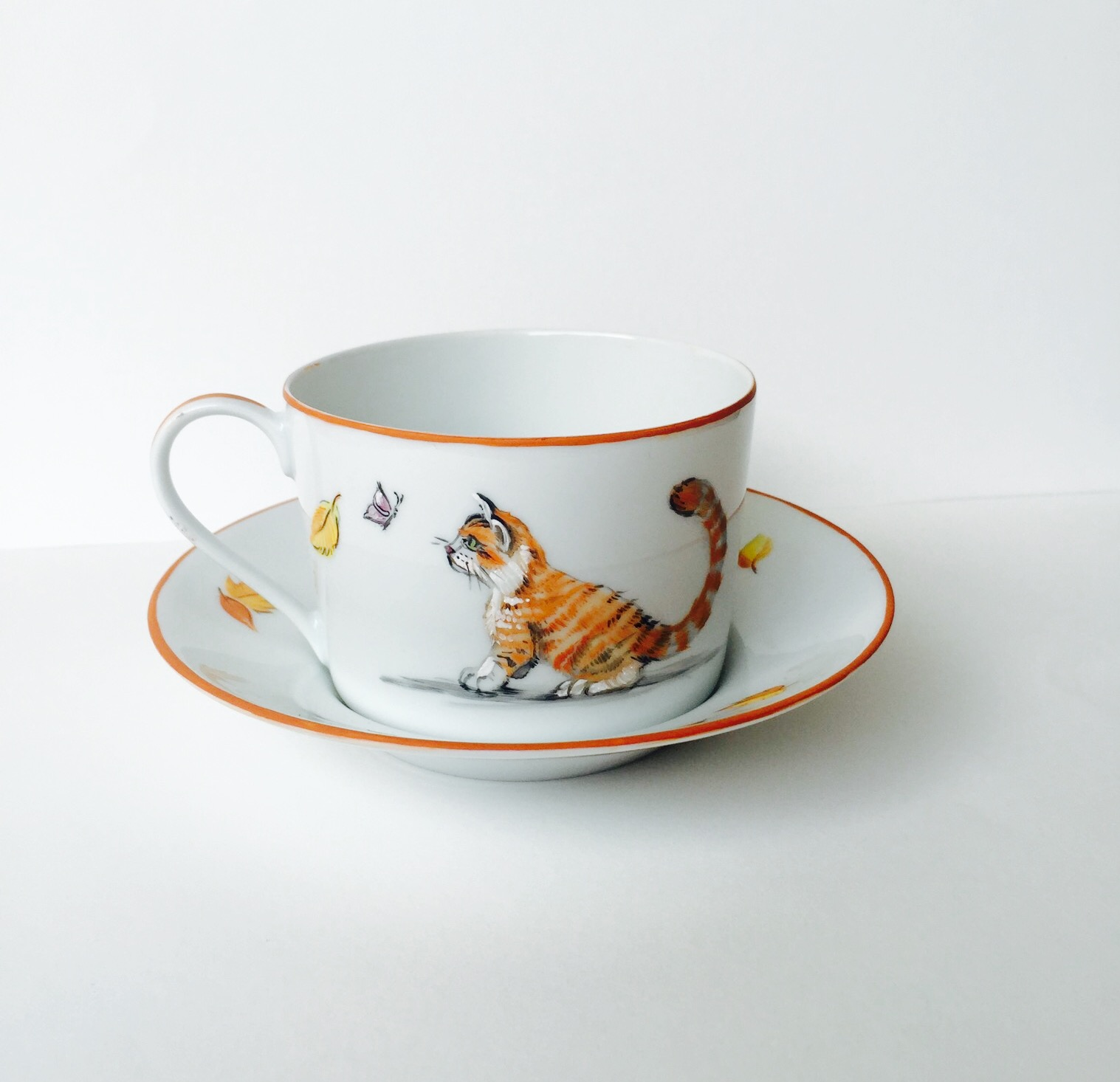 Tasse à the « Chat d'automne »
