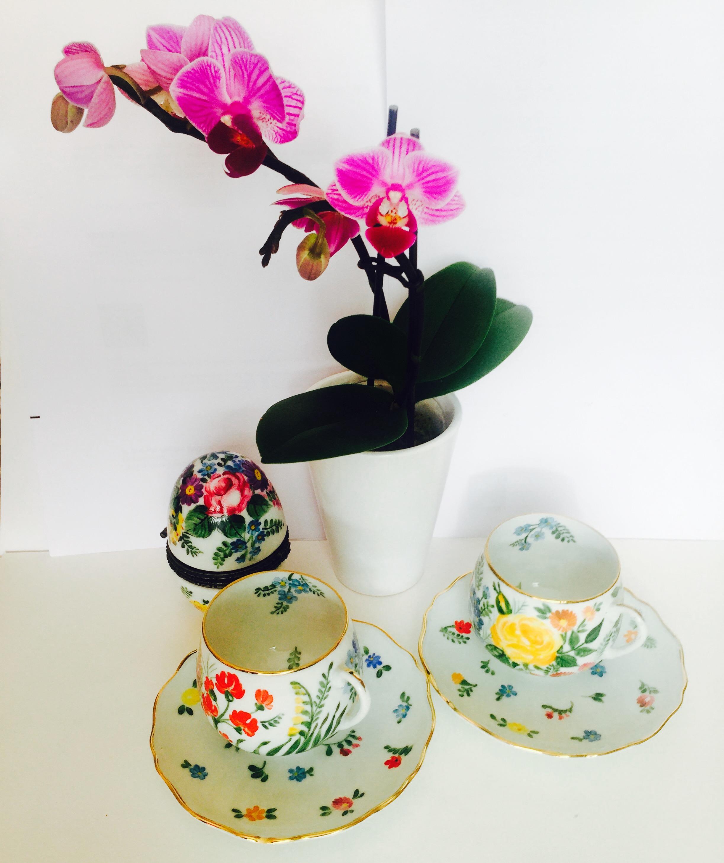 Tasse à thé Tête à tête Fleurs de champs