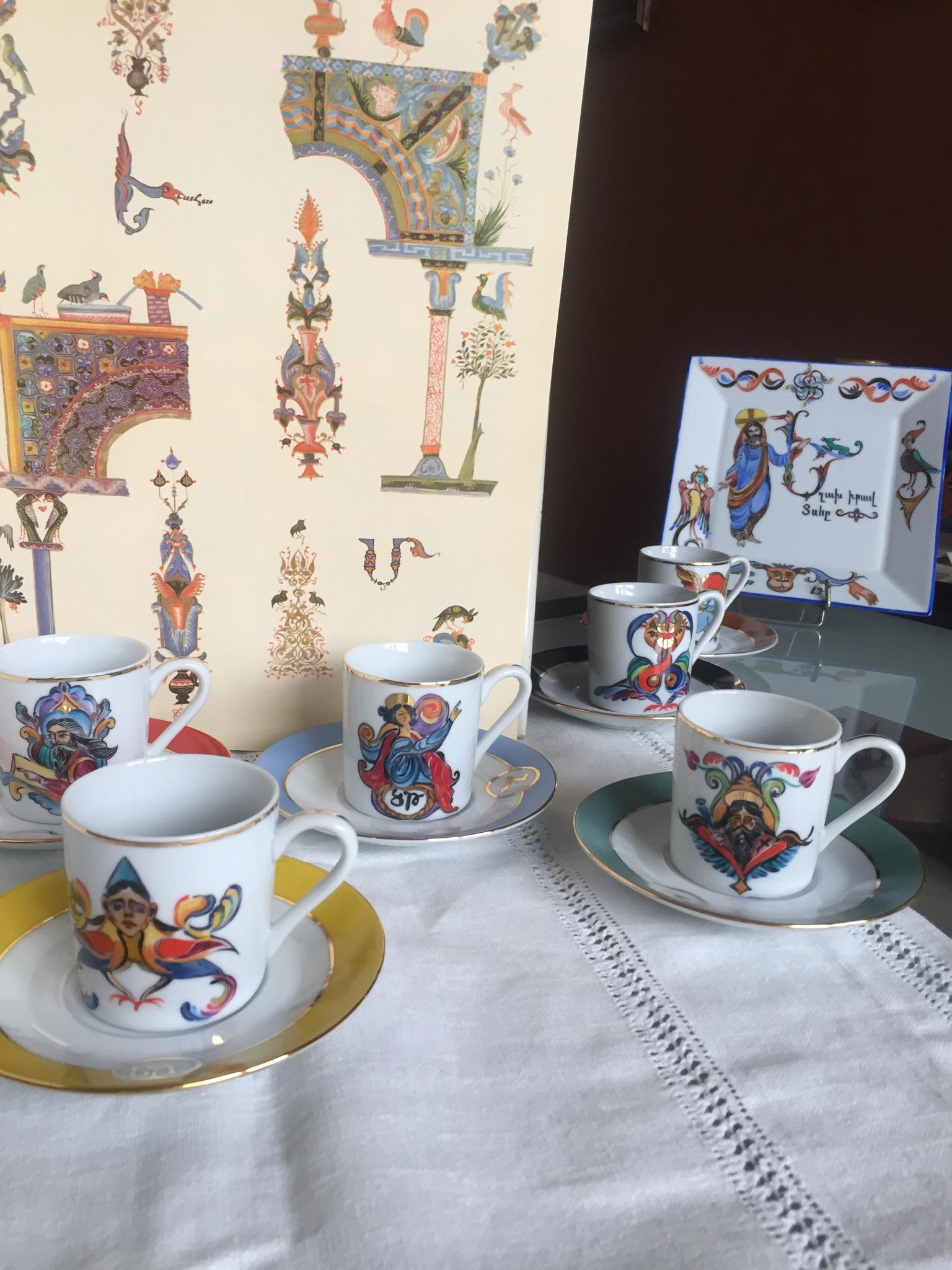 Tasses à thé Miniatures médiévale